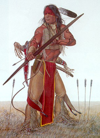 warrior with bow/arrow