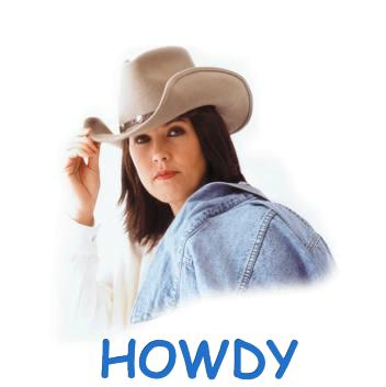 50 Hello Howdy Cowgirl